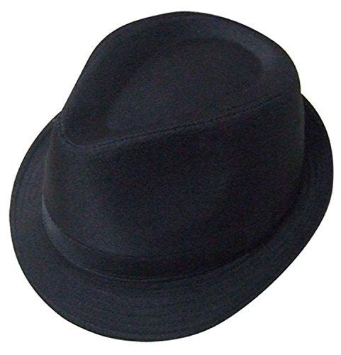 Plain Black Trilby Hat By VIZ-UK WEAR