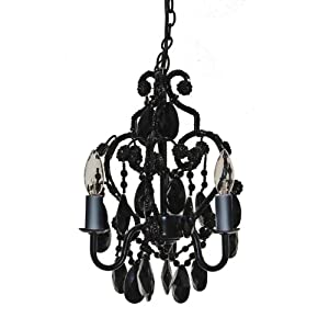 Tadpoles Three Bulb Chandelier in Black Onyx