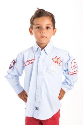 La Martina - Camicia - Maniche lunghe  - ragazzo blu chiaro 12 anni
