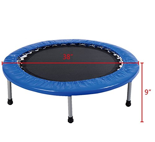 Giantex 38'' Mini Band Trampoline Safe Elastic Exercise Workout w/ Padding & Springs