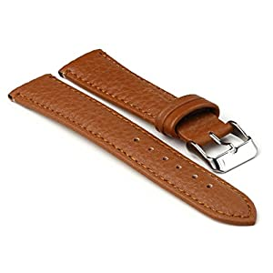 StrapsCo Brown Textured Grain Leather Watch Strap size 12mm