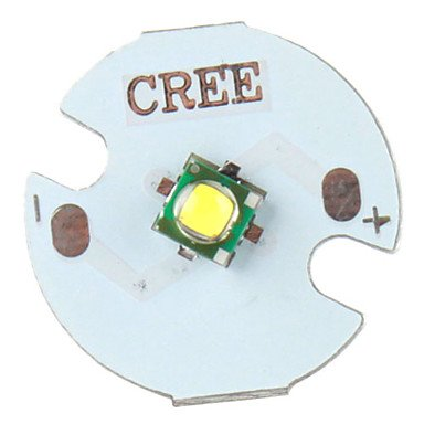 Ggdiy Cree 5W 356Lm 2800-3200K Warm White Light Led Emitter With Aluminum Base (3.2-3.6V)