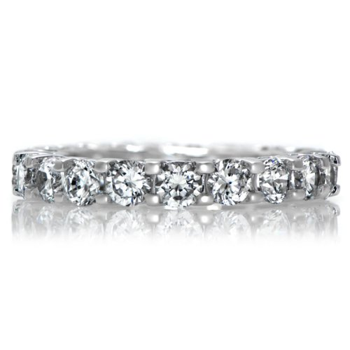 Celebrity Star Emitations Lailie's Inlaid CZ Stackable Wedding Band - Final Sale Size 9