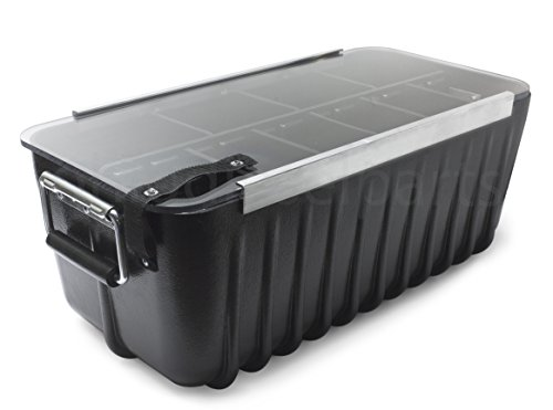 Large Plastic Storage Container Bin Box for Ammo, Equipment, Tools, or Outdoor (Large Storage Containers compare prices)
