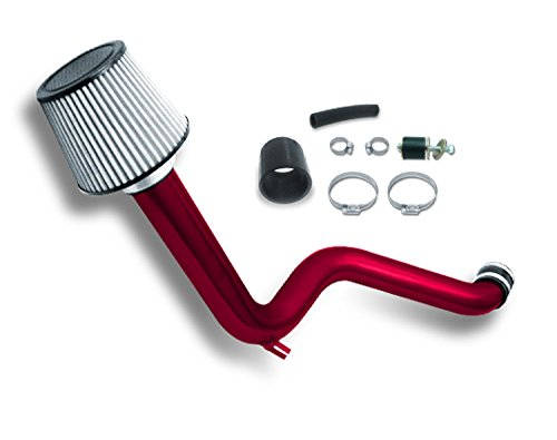 ZMAUTOPARTS Honda Accord DX LX EX Cold Air Intake+Filter Red (1990 Honda Accord Lx compare prices)