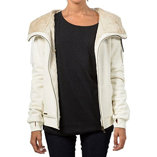 Hemp Hoodlamb Furry Full-Zip Hoodie - Women's Cream, L