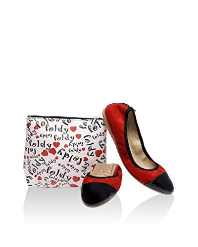 Foldy Bailarinas Rojo / Negro
