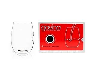 Govino Wine Glass Flexible Shatterproof Recyclable, Set of 4 by Govino