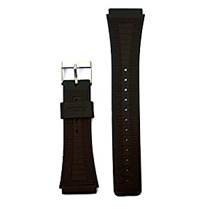 Replacement 18 Millimeters PU Band Fits Casio and Other Sport Watchbands w/ Stainless Steel Buckle