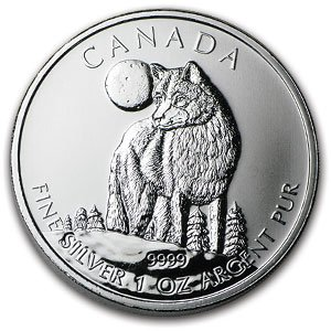 2011 Canadian 1 oz Silver Wolf Coins