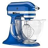 KitchenAid Electric Blue 5 Qt Glass Bowl Stand Mixer KSM155GBEB Works IGN