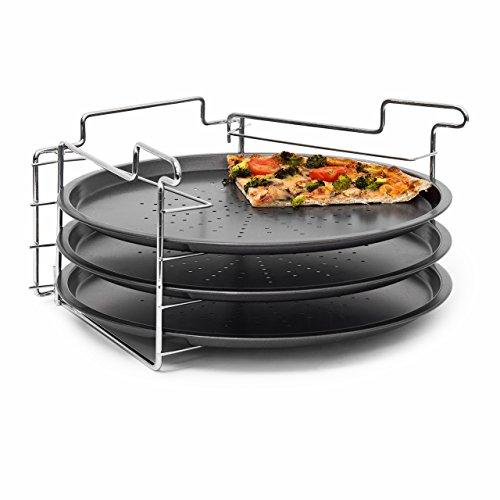 Relaxdays 10018742 - Vassoio per la Pizza fino a 4 pizze! 32 centimetri di diametro