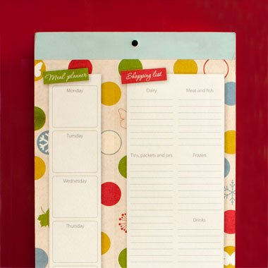 Organised Mum Fridge List Menu & Shopping List Great Gift Idea