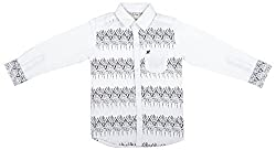 Zedd Boys' Cotton Shirt (E-C Zks1069B_24, White, 24)