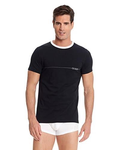 Guess Camiseta Manga Corta Negro