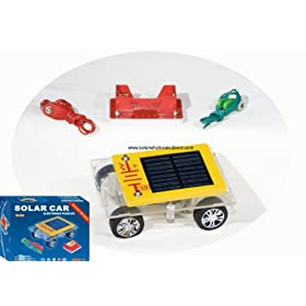 Solar Car Assembly Kit. 5+ can build a solar car and AA solar charger as many times as they want.