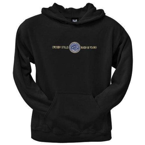 Old Glory Mens CSNY - Emblem Pullover Hoodie - Large Black