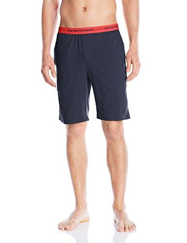 Emporio Armani 6P717 Bermuda - Pantaloni corti pigiama uomo, Blu (Marine), Small