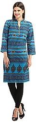 Styllia Womens Cotton Kurta (KURTI-06-BLUE _ XXL, Blue)