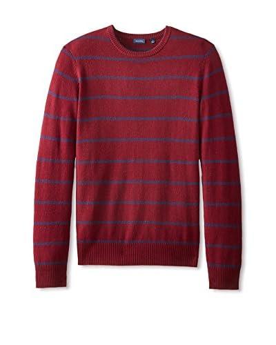Thirty Five Kent Men's Wool/Cashmere Small Stripe Crew Neck