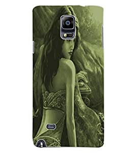 ColourCraft Amazing Lady Drawing Design Back Case Cover for SAMSUNG GALAXY NOTE 4