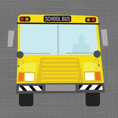 "Oopsy Daisy NB20432 Ways To Wheel School Bus by Vicky Barone Canvas Wall Art, 14"" by 14"""