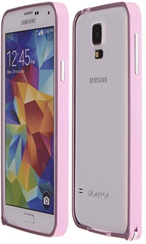 Boilfish,Samsung Galaxy S5,Metal Aluminum Alloy Bumper Clasp Case,Pink