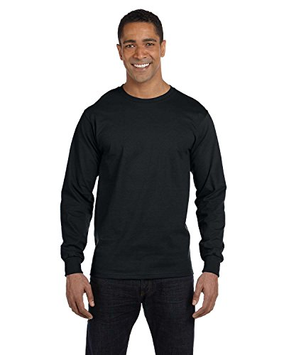 hanes-adult-beefy-t-long-sleeve-t-shirt-black-size-3xl-us