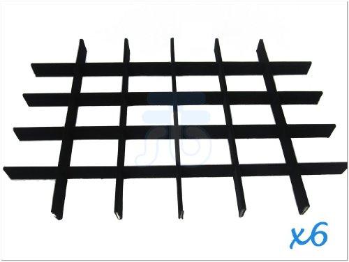 Black Velvet Jewellery Display Insert Frame for Utility Case, 30 Compartment, Pack of 6 Sets