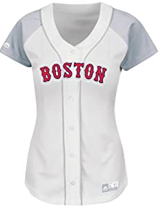 Dustin Pedroia Boston Red Sox Ladies MLB Majestic Fashion Jersey by Majestic