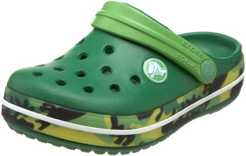 crocs Crocband Kids Dino Camo Clog (Toddler/Little Kid),Kelly Green/Lime,10-11 M US Toddler