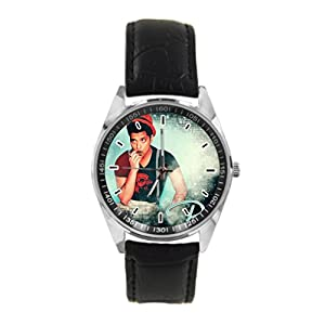 Fox Here Design Papel De Parede Bruno Mars Custom Women / Men leather Band Metal Unique Sports Watch Unisex Fashion Watch