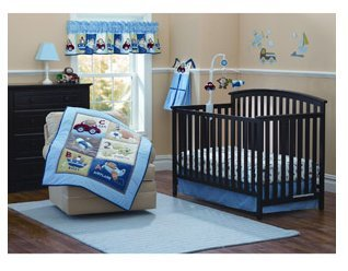 Garanimals Boys On The Go 3pc Crib Bedding Set - 1