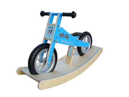 BambinoBike boy push bikes Children with rocker blue