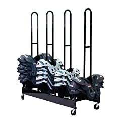 Champion Sports Four Stack Football Shoulder Pad Rack (Black) by Champion Sports
