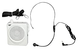 PYLE-PRO PWMA50W 50 Watts Portable Waist-Band Portable PA System with Headset Microphone, Rechargeable Batteries (White)