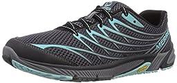 Merrell Women\'s Bare Access Arc 4 Trail Running Shoe,Black/Aventurine,11 M US