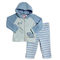 Baby Togs Baby-Boys Newborn Hoody Set, Blue, 6-9 Months