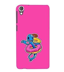 EPICCASE Pink Worm Mobile Back Case Cover For HTC Desire 820 (Designer Case)