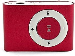 Lecteur mp3 clips en métal de musique USB Media Player Soutien 1--16GB Micro SD / TF rouge