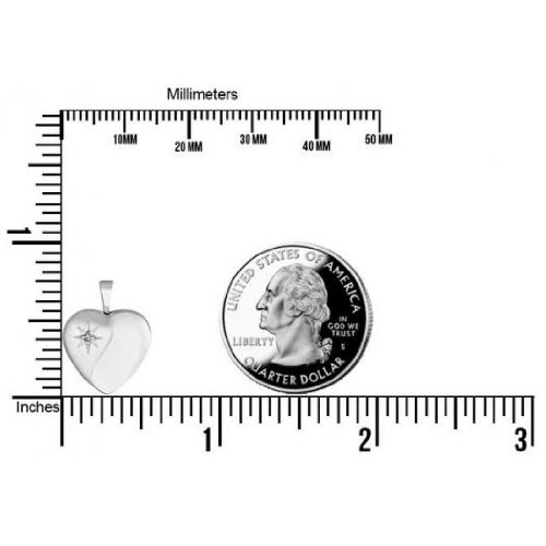 Sterling Silver Heart with Cubic Zirconia Locket 1/2 Inch X 1/2 Inch task tools t24487 canoe router bit with 1 2 inch shank and 1 1 4 inch by 1 inch carbide height