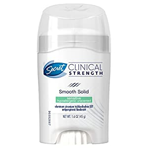 Clinical Strength Smooth Solid Women's Antiperspirant & Deodorant Sensitive Hypoallergenic 1.6 Oz(Pack of 2)