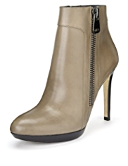 Autograph Premium Leather Platform Ankle Boots with Leather Lining and Insolia®