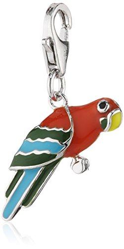 Zeeme Damen-Anhänger 925/- Sterling Silber Mit Buntem Lack Papagei 360241484