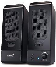 Genius SP-U120 3W - Altavoces (Mesa/estante, PC/ordenador portátil, De 1 vía, 160 - 20000 Hz, Giratorio, Negro)