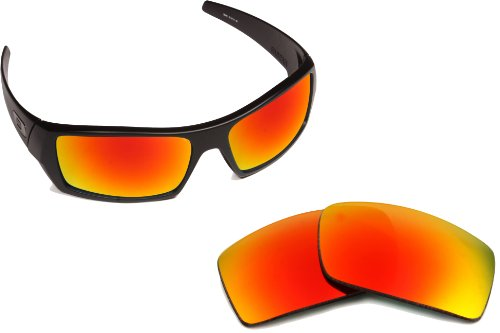 New SEEK OPTICS Replacement Lenses for Oakley GASCAN - Polarized Red Fire Mirror