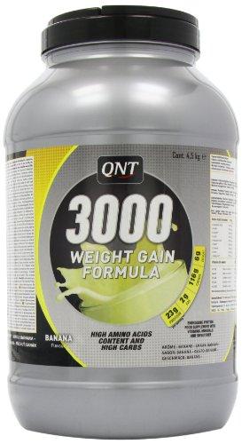 QNT 3000 4500 g Banana Muscle Size and Weight Gain Shake Powder