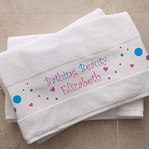 Personalized Bath Towel For Girls front-931926