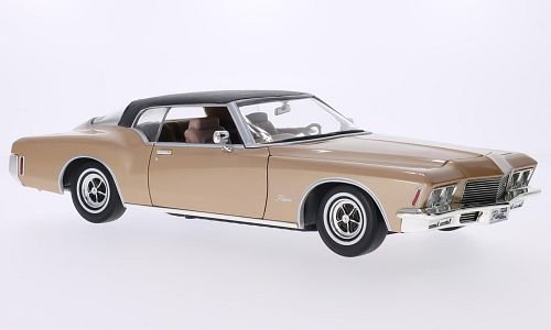 buick-riviera-gs-gold-matt-schwarz-1971-modellauto-fertigmodell-lucky-die-cast-118