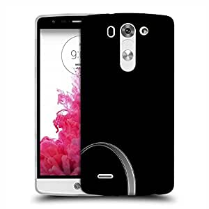 Snoogg Grey Layer In Black Designer Protective Phone Back Case Cover For LG G3 BEAT STYLUS